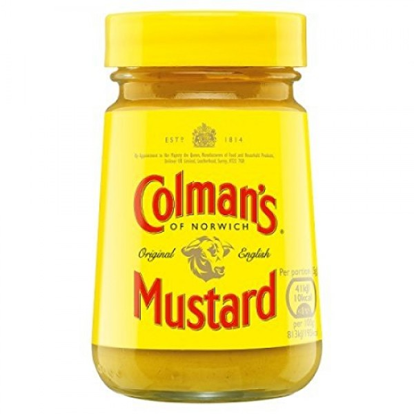 Colmans English Wet Mustard 100g England 6 Pack by British ...