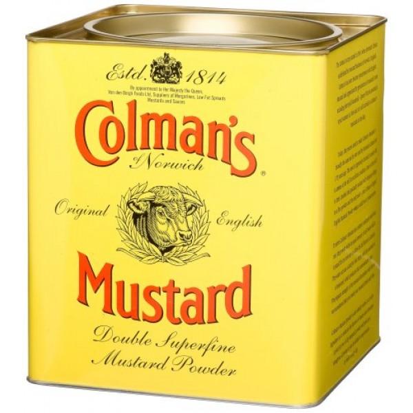 Colmans Double Superfine Mustard Powder, 4 Pound 6 Ounce Tin