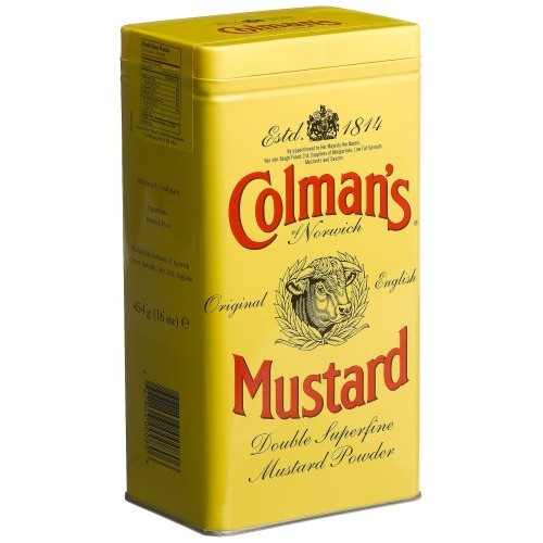 Colmans Mustard Powder, 16-Ounce Cans Pack of 3