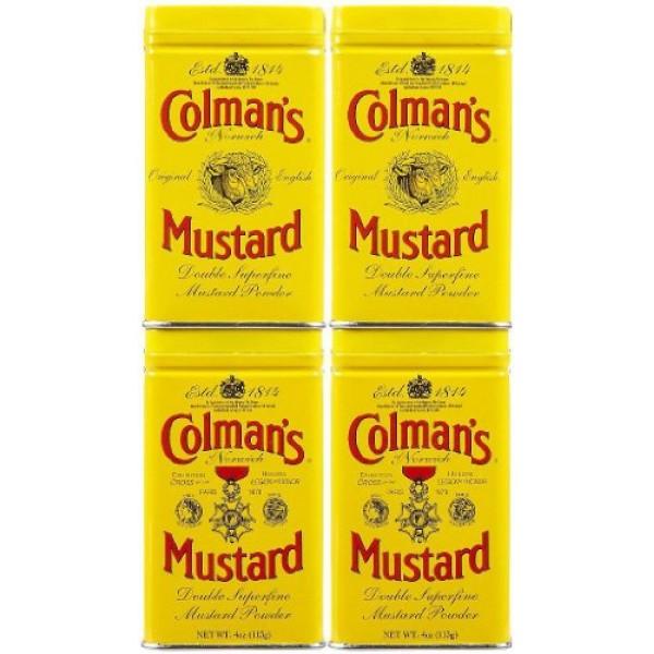 Colmans Dry Mustard 4 oz Tins, 4 pk