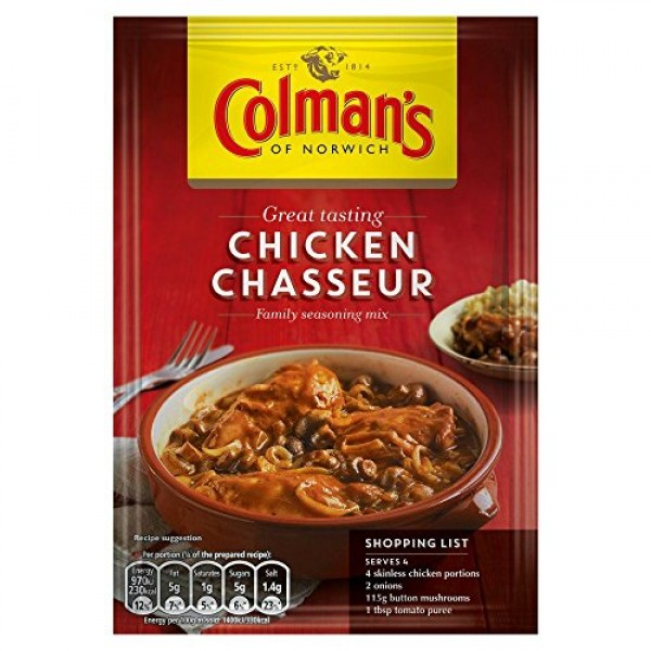 Colmans Chicken Chasseur Mix - 43g - Pack of 8 43g x 8