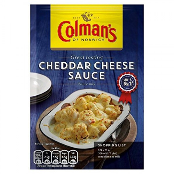 Colmans Cheddar Cheese Sauce Mix - 40g - Pack of 4 40g x 4