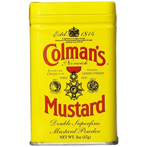 Colmans Dry Mustard, 2 oz Pack of 2