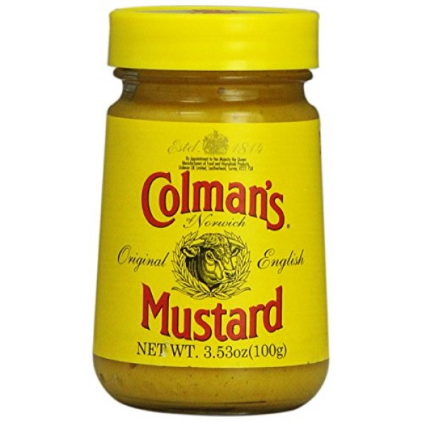 Colmans Mustard, 3.5-Ounce Glass Jar, Pack of 8