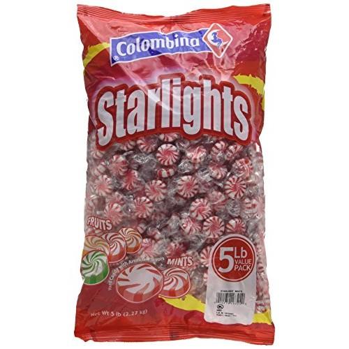 Colombina Peppermint Starlight Mints, 5-Lb Bag