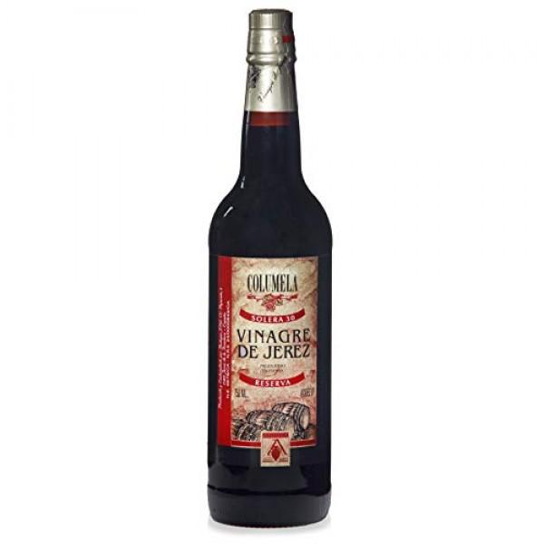 Columela Vinagre de Jerez, Sherry Vinegar, 25.4-Ounce Glass Bott...