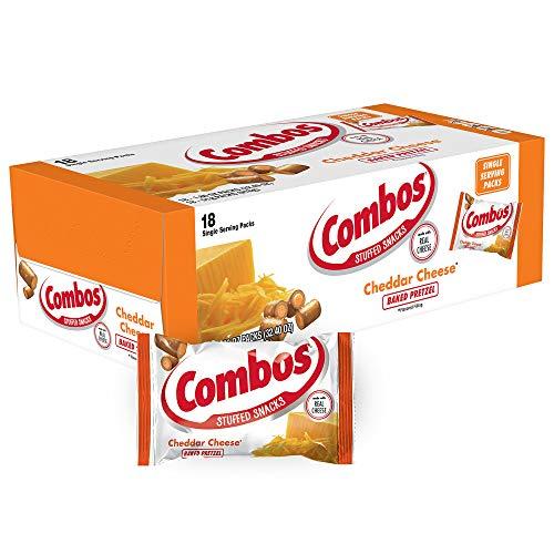 COMBOS Cheddar Cheese Pretzel Baked Snacks 1.8-Ounce Bag 18-Coun...