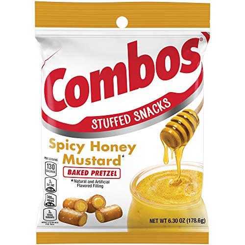 Combos Spicy Honey Mustard Pretzel Baked Snacks, 6.3-Ounce Bag ...