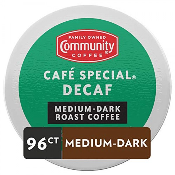 Community Coffee Cafe Special Decaf Single Serve Pods, Compatibl...