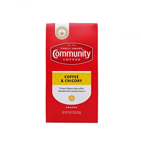 Community Coffee Ground Coffee & Chicory Blend, Ground, 16 Ounces