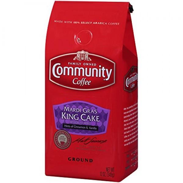 Community Coffee - Mardi Gras King Cake Flavored Medium Roast - ...