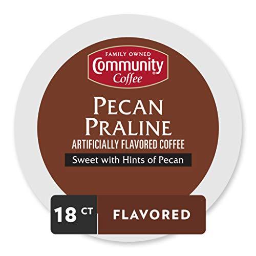 Community Coffee Pecan Praline Flavored Medium Roast Single Serv...