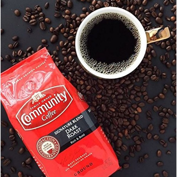Community Coffee Signature Blend Dark Roast, Ground, 32 Ounces ...