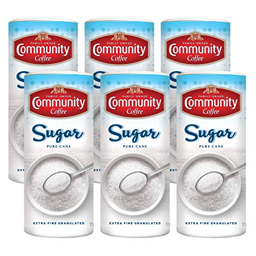 Community Coffee Sugar, 16 Ounce Pack of 6