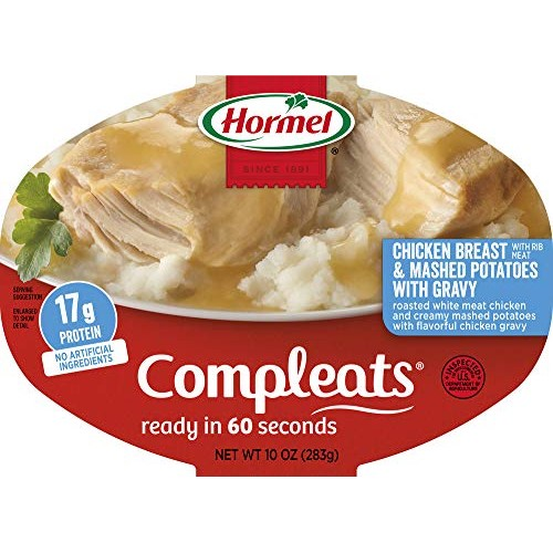 Hormel Compleats Chicken Breast with Rib Meat and Mashed Potatoe...