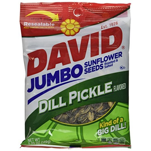 Conagra David Dill Pickle Sunflower Seed, 5.25 Ounce -- 12 per c...