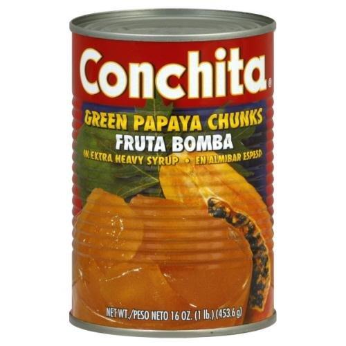 Conchita, Papaya Chunk Green, 16 OZ (Pack of 24)