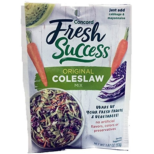Concord Foods, Coleslaw Mix, 1.87oz Packet Pack of 6