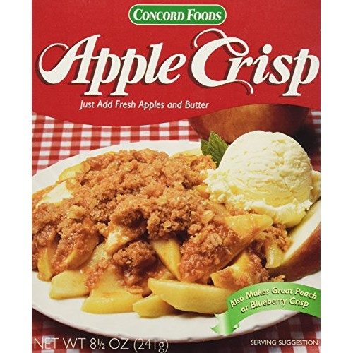 Concord Foods Apple Crisp Mix Value Pack of 6 Boxes