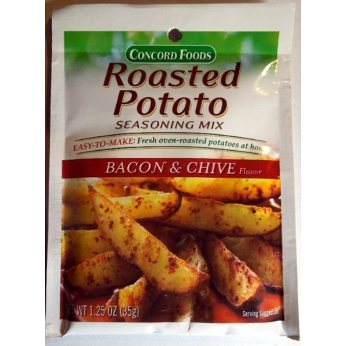 Concord Foods Roasted Potato Seasoning Mix - Bacon & Chive Flavo...