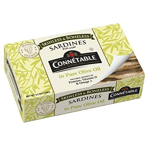 Connetable Skinless and Boneless Sardines in Pure Olive oil, 4.2...