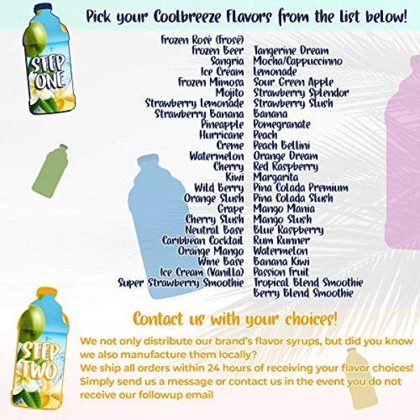 Coolbreeze Beverages [Pick Your Five Flavors] Margarita Frozen D...