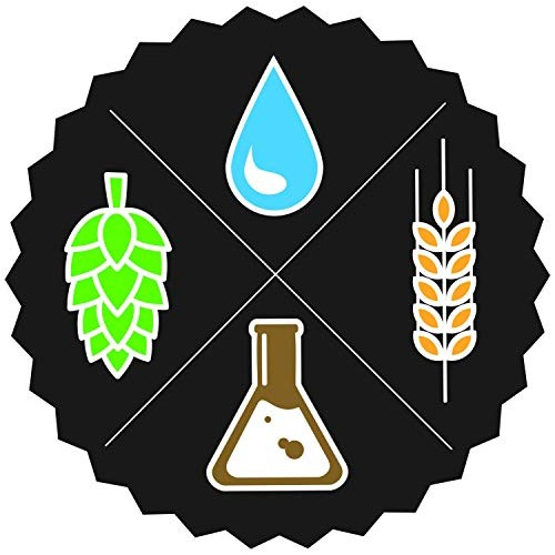 Beer Ingredients Water Hops Malt Yeast Vinyl Sticker 5 Inch, Ind...