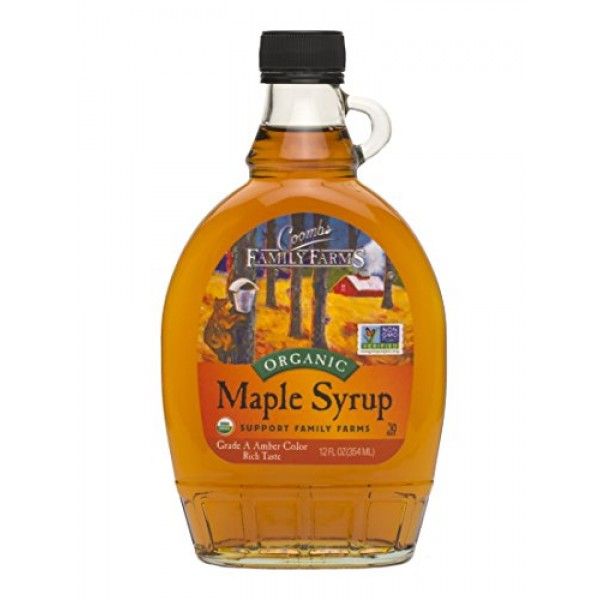 Coombs Family Farms Organic Maple Syrup, Grade A, Amber Color, R...