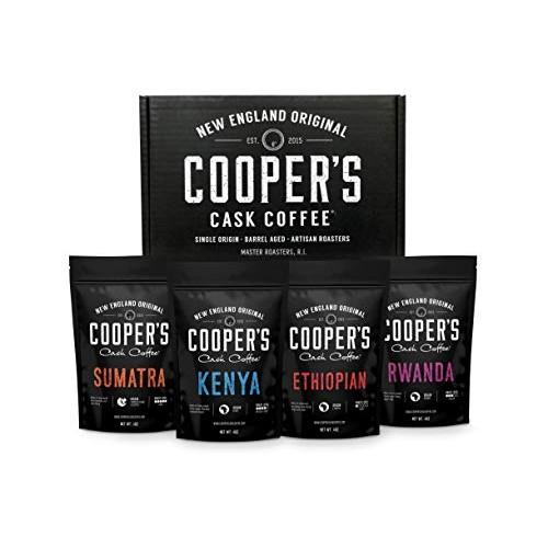 Gourmet Coffee Sampler Gift Box Set | Whole Bean Coffee 4 bags |...