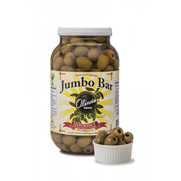 Copia Jumbo California Green Pitted Queen Olives, 1 Gallon -- 4 ...