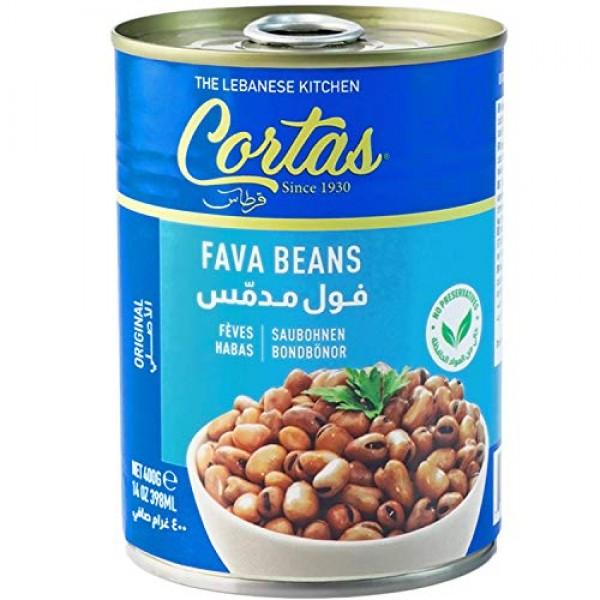 Cortas - Fava Beans 14oz 6 PACK, RTE Cooked Foul Medammas Ori...
