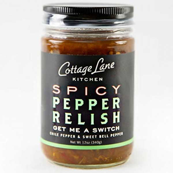 Cottage Lane Kitchen Pepper Relish - Spicy Chili & Sweet Bell Pe...