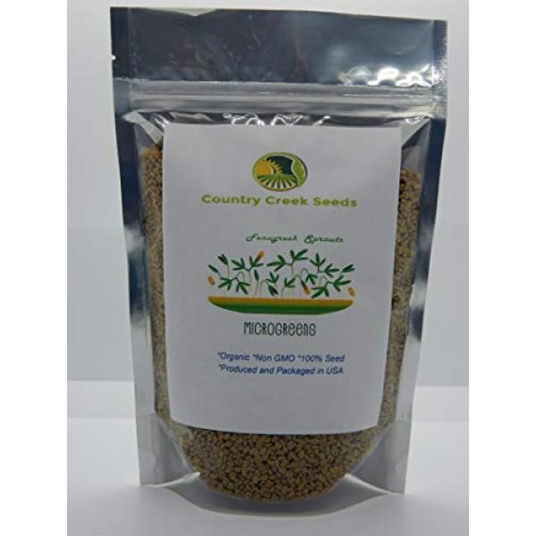 Fenugreek Sprouting Seed, Organic, Non GMO - 9 oz - Country Cree...