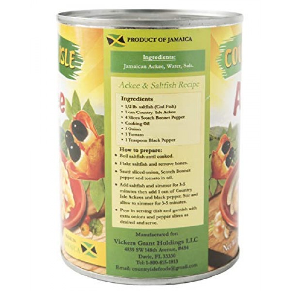 Country Isle Jamaican Ackee in the Can, Perfect with Saltfish an...