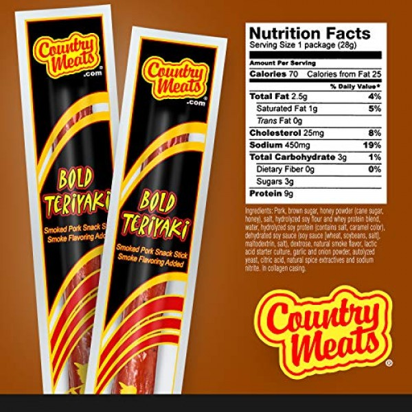 Country Meats, Meat Sticks, 0 Trans Fat, Low Carb, High Protein,...
