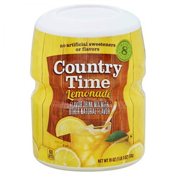 Country Time Lemonade Flavor Drink Mix- Pack of 2 Canisters 19 ...