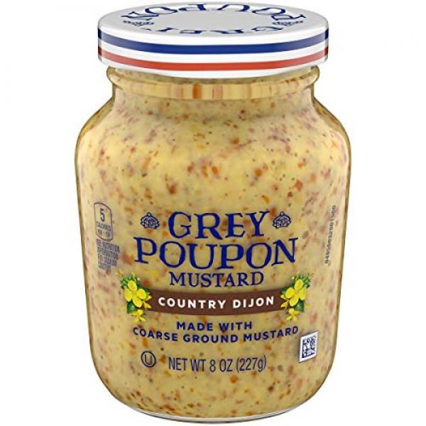 Grey Poupon Country Dijon Mustard 8 oz Jar