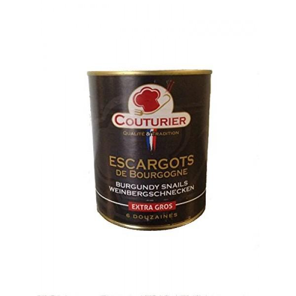 Couturier - Escargots Extra Large Burgundy Snails - 6 Dozen