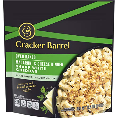 Cracker Barrel Oven Baked Sharp White Cheddar Macaroni and Chees...