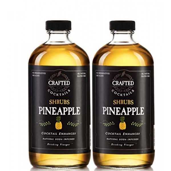 Crafted Cocktails - Pineapple Shrubs - 2 Pack - Use as cocktail ...