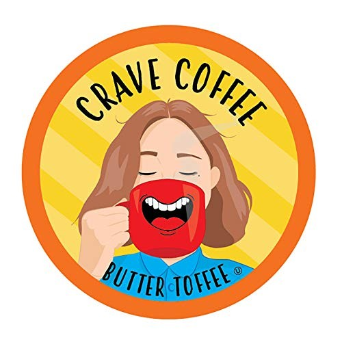 Crave Flavored Coffee Pods, Compatible with 2.0 K-Cup Brewers, B...