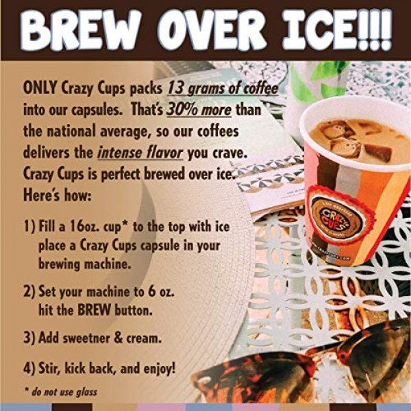 Crazy Cups Flavored Premium Cappuccino, for the Keurig K Cups 2....