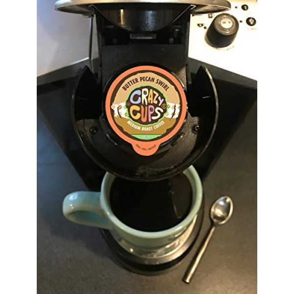 Crazy Cups Flavored Single-Serve Coffee for Keurig K-Cups Machin...