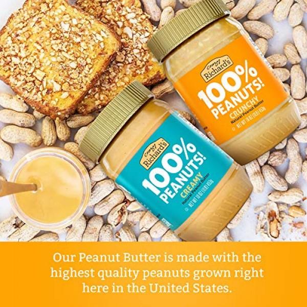 100% All-Natural Creamy Peanut Butter, Sugar-Free Peanut Butter ...