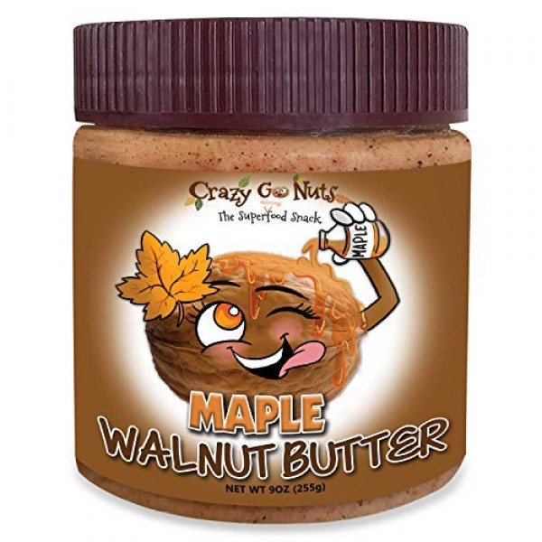 Crazy Go Nuts Walnut Butter - Maple, 9 oz 1-Pack - Healthy Sna...
