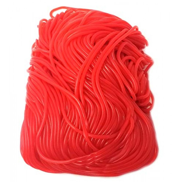 CrazyOutlet Gustafs Strawberry Red Licorice Laces, NON-GMO Cand...