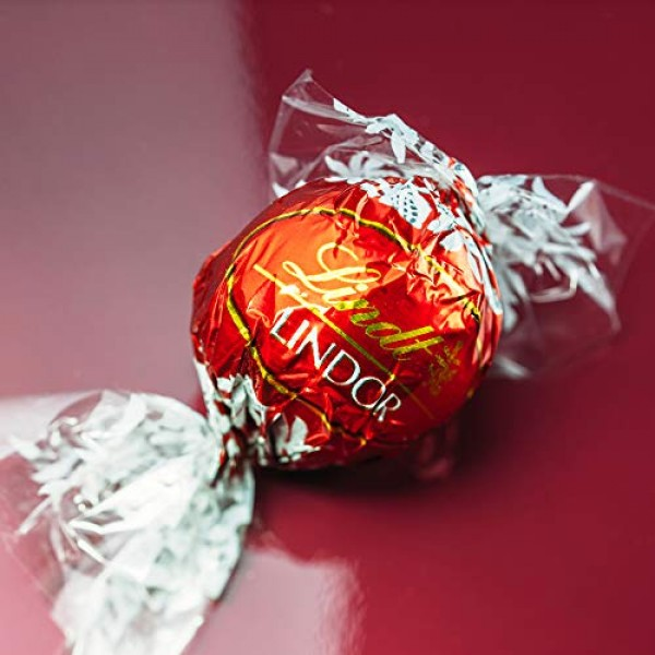 CrazyOutlet Lindt Lindor Milk Chocolate Truffles Candy, Red Wrap...