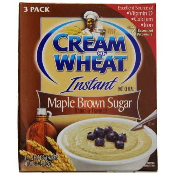 Cream of Wheat Instant Maple Brown Sugar 3 Pack 3 boxes