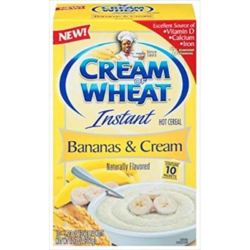 Cream Of Wheat, Bananas & Cream, Instant Hot Cereal, 10 Count, 1...