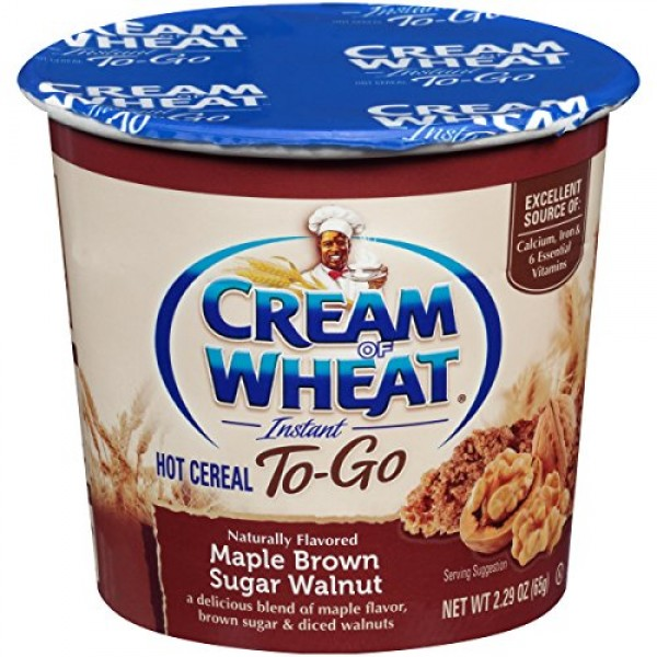 Cream of Wheat, Hot Cereal to Go, Maple Brown Sugar Walnut, 2.29...